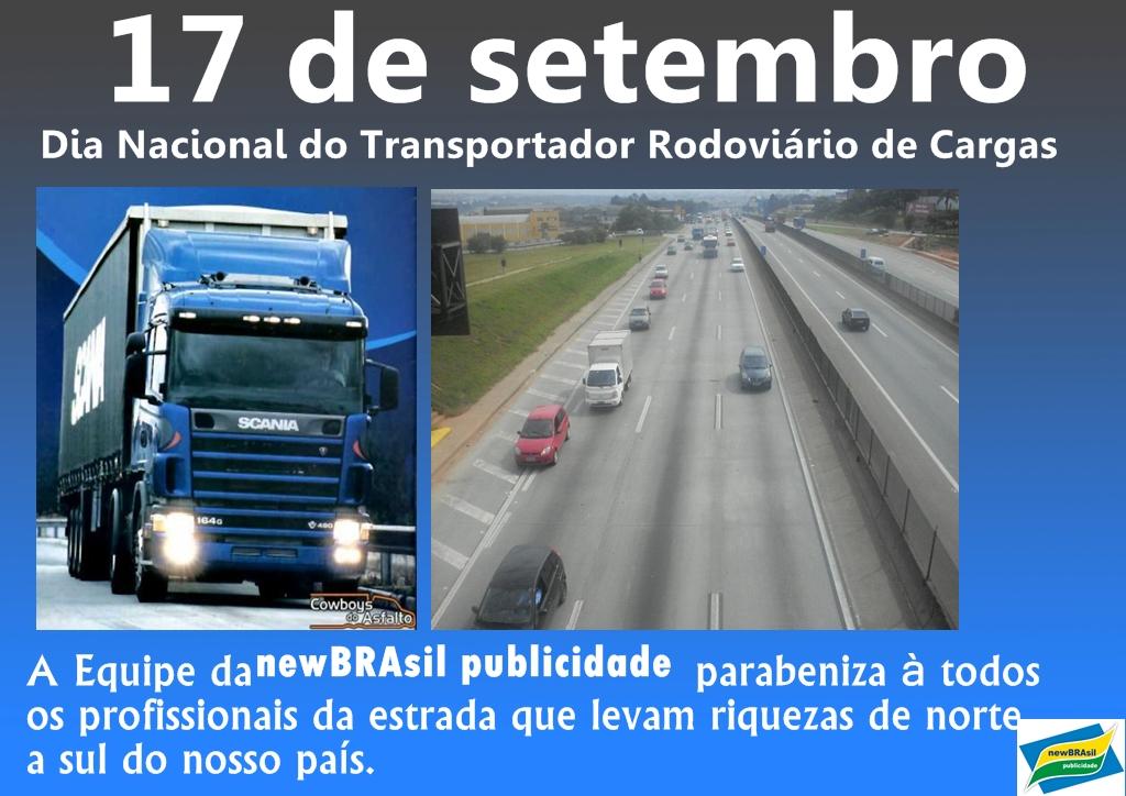 17 de setembro é o Dia Nacional do Transportador Rodoviário   Jornal ... 630504aa4a